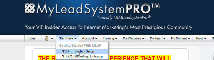 MyLeadSystemPro Step 1